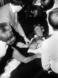 Robert Kennedy on pantry floor