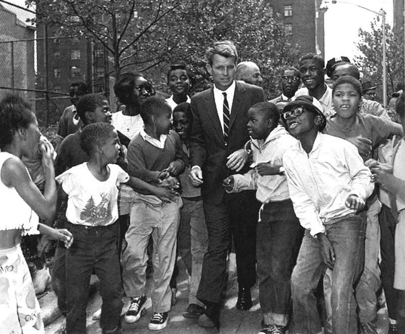 Robert Kennedy with children